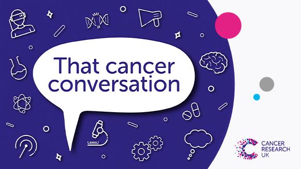 That cancer conversation podcast art